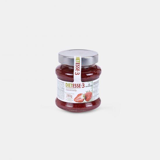 Fructose-Konfitüre mit Erdbeeren